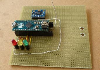 Weiterer Fortschritt mit Fassungen für Arduino-Micro und MPU6050.