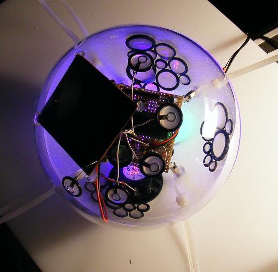 Test der Leuchtdioden.