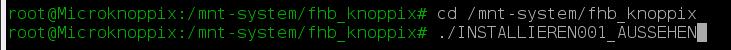 Installation zusätzlicher Software über ein Skript.