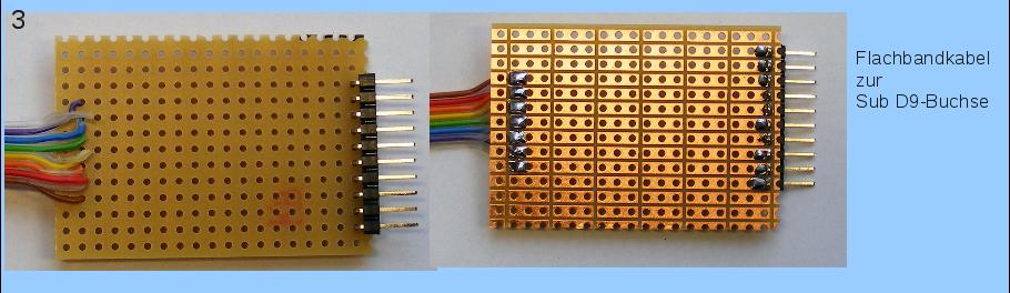 Flachbandkabel zur PC-seitigen Verbindung.