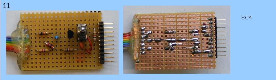 Herstellen der Teilschaltung, die Mikrocontroller-seitig zu dem Pin SCK geht.