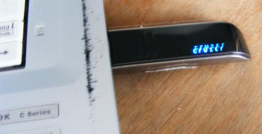 USB-Stick am Notebook