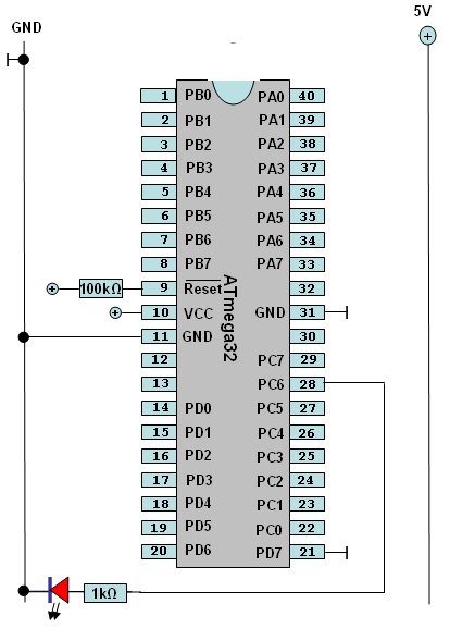 Stromlaufplan zum Test des Programms