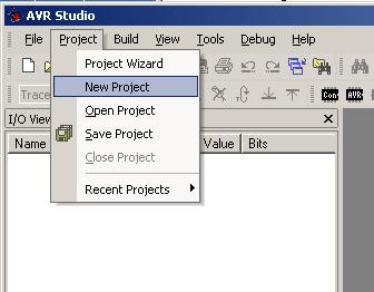 Neues Projekt im AVR-Studio anlegen
