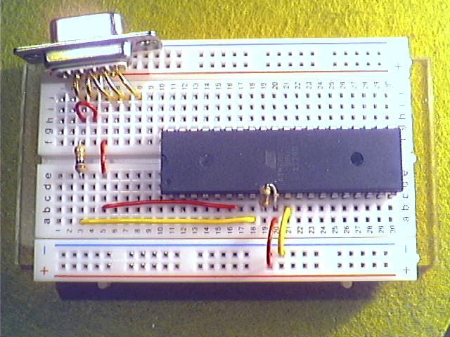 Schritt4 - Pin 8 bei D-Sub mit Pin 7 (MISO) des ATmega32 verbinden.