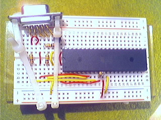 Schritt10 - Befestigen der Sub-D-Buchse mit Kabelbinder.