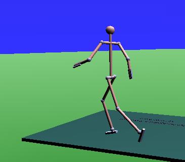 Aus den berechneten Momenten beim Gehen lassen sich für das Modell auch Momente für andere Bewegungsformen ableiten, wie das Laufen.
