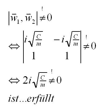 Nachweis der linearen Unabhängigkeit der Eigenvektoren