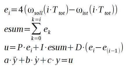 Zu simulierendes Modell mathematisch formuliert.