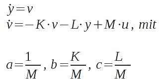 Substitution der Modellparameter vorbereitend auf die Optimierung.