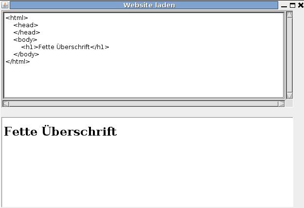 Htmlseite2 als Applikation gestartet.