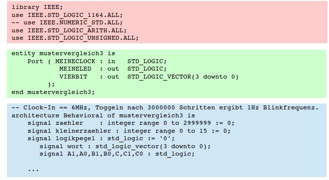 Zwei-Bit-Wort-Vergleicher unter Verwendung der vorangehend definierten Antivalenzgatter.
