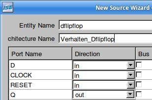 Erstellen des Unter-Quelltextes mit dem D-FlipFlop 2.