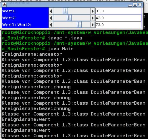 Kompilieren, Start und Screenshot der Anwendung.