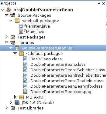 Projektlibrary nach Hinzufügen von DoubleParameterBean.jar