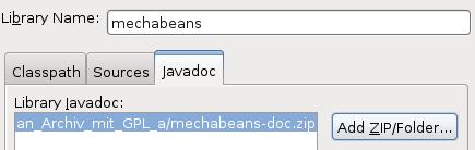 Javadoc-Archiv mit Beschreibungen und API der Klassen hinzufügen.