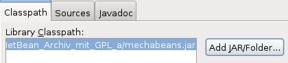 Archiv-File mit den Klassen hinzufügen.