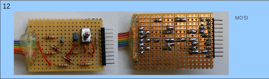 Herstellen der Teilschaltung, die Mikrocontroller-seitig zu dem Pin MOSI geht.