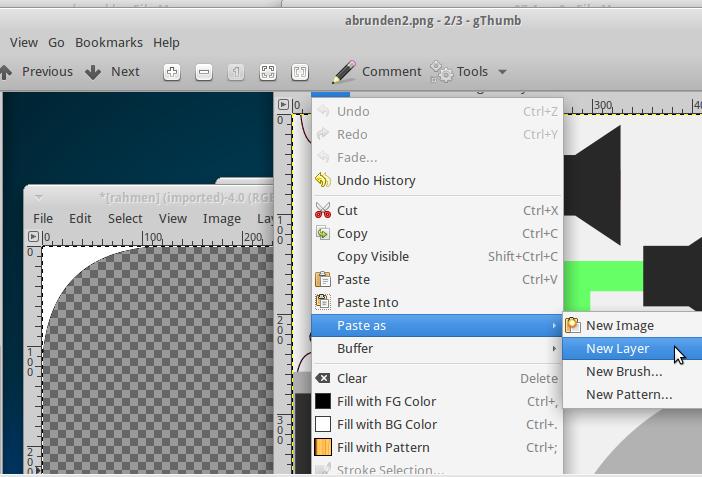 Rahmen als Layer auf Icon kopieren.
