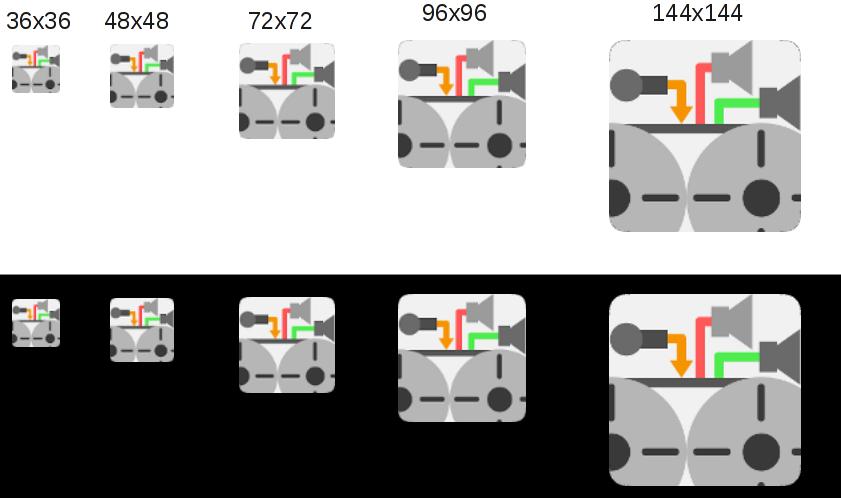 Endversion in verschiedenen Auflösungen in Originalgröße.