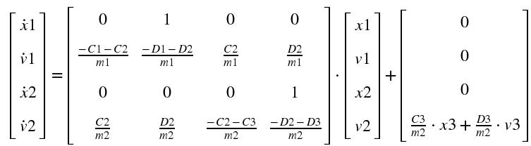 Zweimasseschwinger Newton-Gleichungen
