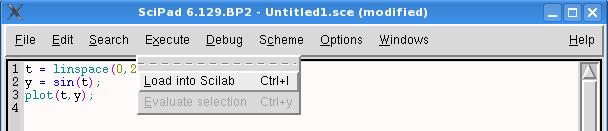 Ausführen des Scripts in Scilab