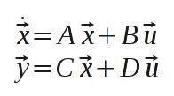 Standarddarstellung linearer Übertragungsglieder im Zeitbereich als DGLS erster Ordnung.