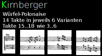 Die Würfel-Polonaise von Johann Philipp Kirnberger.