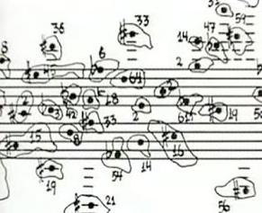 Score excerpt from John Cage.