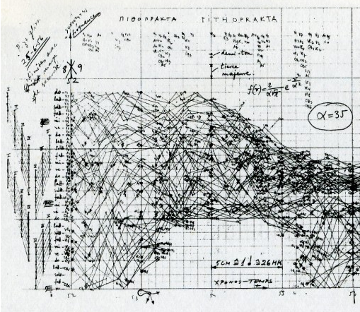 Score excerpt from Iannis Xenakis.