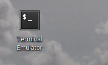 Double click to Terminal.