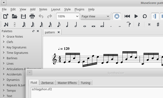 View->Synthesizer in MuseScore