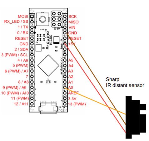 Sensor Curcuit (example with Sharp IR distance sensor)