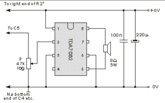 Variante Audioverstärkung mit TDA7052