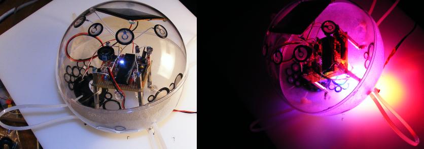 Licht- Klangkugeln - Beispiel.